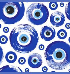 Seamless pattern with hand drawn turkish eye vector