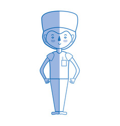 Silhouette specialist doctor with medical uniform vector