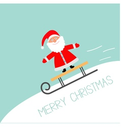 Sleigh with Santa Claus rolling downhill Motion vector image
