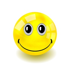 Smilie bouncy ball vector