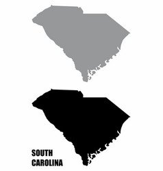 south carolina state silhouette maps vector image