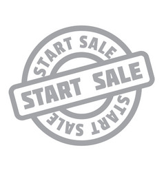 Start sale rubber stamp vector