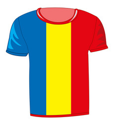 T-shirt with flag of the republic fume vector