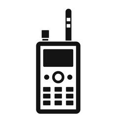 Talkie radio icon simple style vector