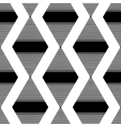 the pattern black striped rhombuses vector image