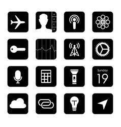 Touchscreen smart phone mobile app button vector