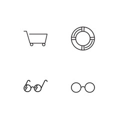 Travel linear icons set simple outline icons vector