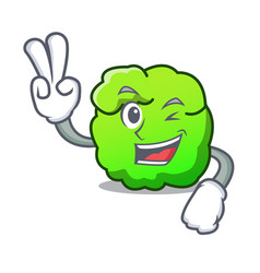 Two finger shrub character cartoon style vector