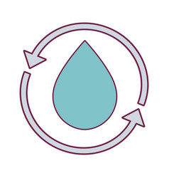 Water drop with arrows around vector