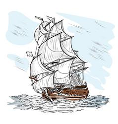 Wind-driven ship vector