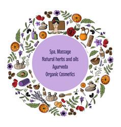 With cartoon spa massage organic vector