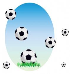 balls on a grass vector image