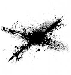 cross grunge splat vector image vector image