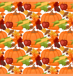 fresh pumpkin thanksgiving decorative seasonal vector image