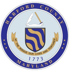 Harford County vector image