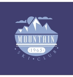 Mountain Ski Club Emblem Design vector image