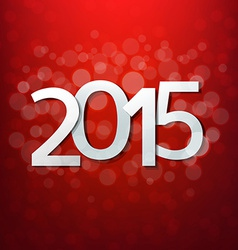 Red Happy New Year Card vector image vector image