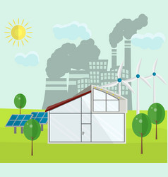 renewable green energy sources concept vector image