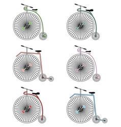 Vintage bikes on white background vector image