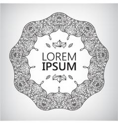 Abstract yoga meditation logo graphic in boho vector