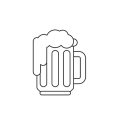 Beer thin line icon vector image