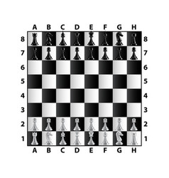 chess board top view isolated on white vector image vector image
