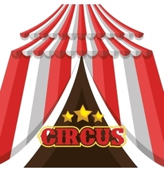 circus tent entertainment isolated icon vector image
