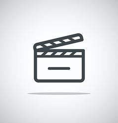 Modern media web icon Movie clap vector image vector image