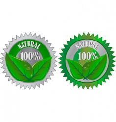 natural eco product labels vector image vector image