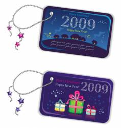new year tags 2009 vector image vector image