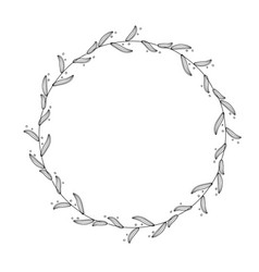 round flourish vintage decorative whorls frame vector image vector image