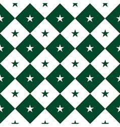 Star Green White Chess Board Diamond Background vector image vector image