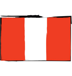 abstract peruvian flag or banner vector image vector image