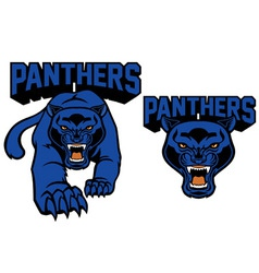 black panther mascot vector image vector image