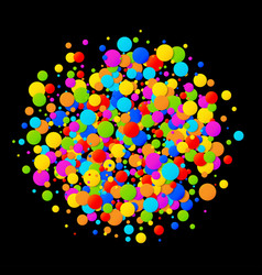 colorful bright circle confetti round background vector image