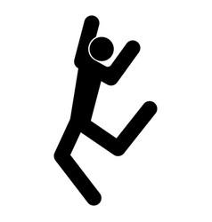 dancer stick black color icon vector image vector image