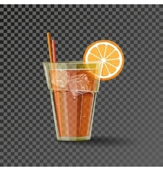 Orange drink in the glass vector image vector image