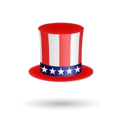 American gentleman hat cylinder with ribbon vector image