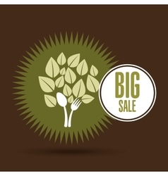 big sale organic food healthy vector image
