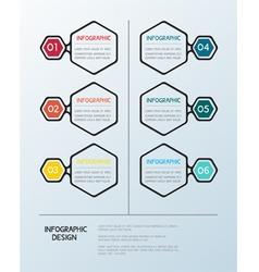 Infographic hexagon template vector image