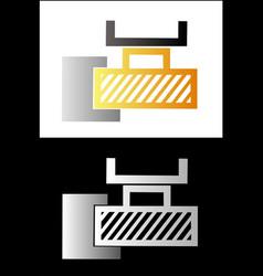 Metalworking symbol 4 vector image