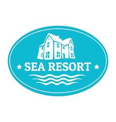 Seaside real estate logo template vector image vector image