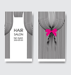 template business card with long hair vector image vector image