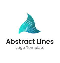 twisted triangle from lines logo design vector image vector image