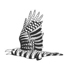 Zentangle stylized raven vector image vector image