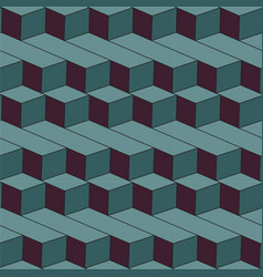 3d geometric seamless pattern vector image