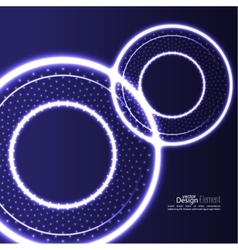 Abstract background with glowing circles vector image