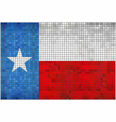 abstract mosaic flag of texas vector image