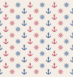 anchor and rudder seamless pattern marine vector image