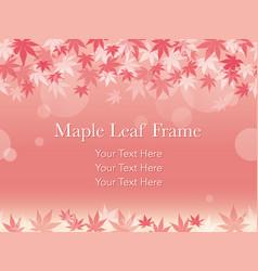 autumn leaf frame 8 vector image